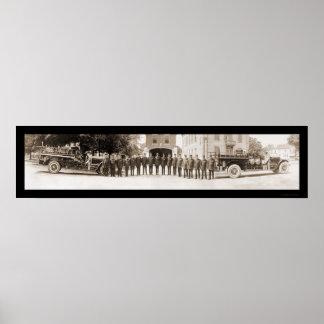 Clayton, foto 1920 del departamento del fuego de N Poster