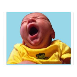 clayton yawning postcard