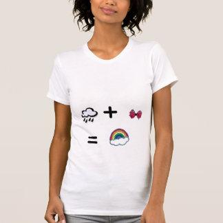 cld_rain, plus_sign, zebra--bow, equalsign,... tee shirt