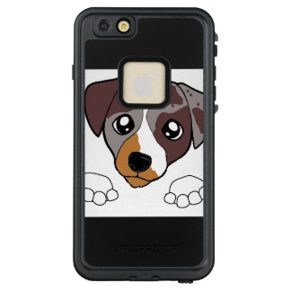 cld red merle peeking LifeProof FRĒ iPhone 6/6s plus case