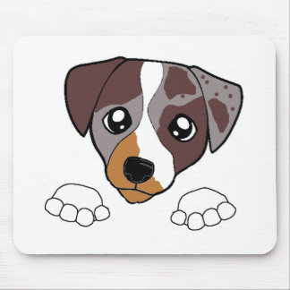 cld red merle peeking mouse pad