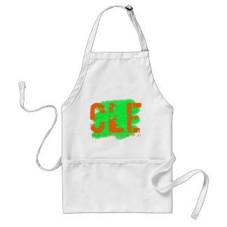 """CLE-Cleveland, Ohio 3 Letter """"Airport"""" Code Adult Apron"""
