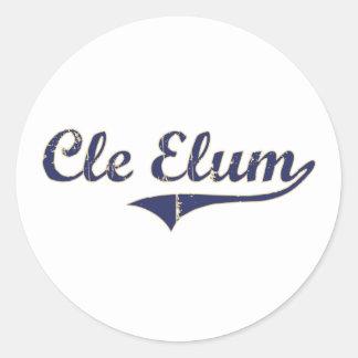 Cle Elum Washington Classic Design Classic Round Sticker