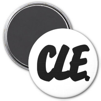 CLE Letters 3 Inch Round Magnet