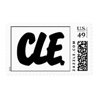 CLE Letters Postage Stamps