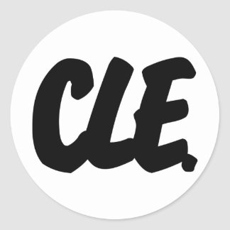 CLE Letters Classic Round Sticker