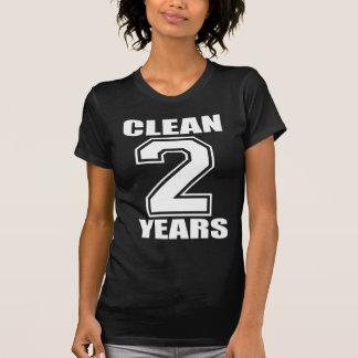CLEAN 2 YEARS WHITE ON DARK SHIRTS
