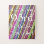 [ Thumbnail: Clean 93rd Birthday Puzzle ]