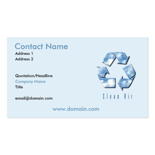 Clean Air Business Card