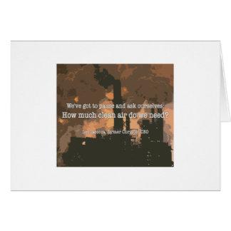 Clean Air Greeting Card