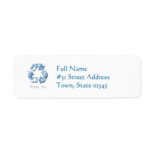 Clean Air Return Address Label