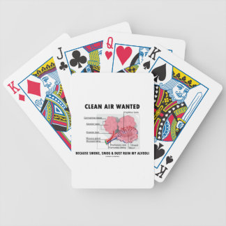 Clean Air Wanted Because Smoke Smog Dust Ruin My Bicycle Playing Cards