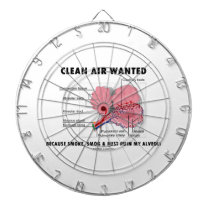 Clean Air Wanted Because Smoke Smog Dust Ruin My Dartboard
