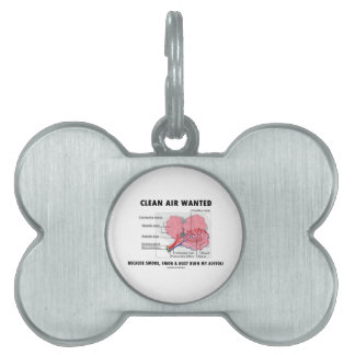 Clean Air Wanted Because Smoke Smog Dust Ruin My Pet Tag