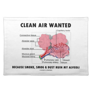 Clean Air Wanted Because Smoke Smog Dust Ruin My Placemat