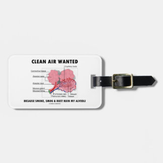 Clean Air Wanted Because Smoke Smog Dust Ruin My Tags For Bags