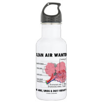 Clean Air Wanted Because Smoke Smog Dust Ruin My Water Bottle