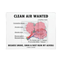Clean Air Wanted Health & Medicine Alveoli Humor Doormat