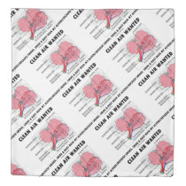 Clean Air Wanted Health & Medicine Alveoli Humor Duvet Cover
