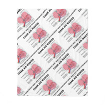 Clean Air Wanted Health & Medicine Alveoli Humor Fleece Blanket