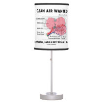 Clean Air Wanted Health & Medicine Alveoli Humor Table Lamp