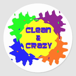 Clean and Crazy Classic Round Sticker