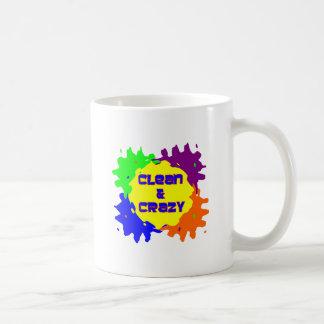 Clean and Crazy Classic White Coffee Mug
