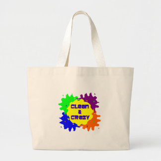 Clean and Crazy Jumbo Tote Bag