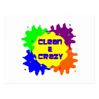 Clean and Crazy Postcard