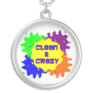 Clean and Crazy Round Pendant Necklace