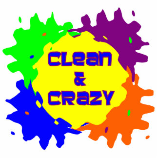 Clean and Crazy Standing Photo Sculpture