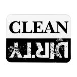 Clean and Dirty Dishwasher Rectangular Magnets