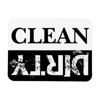 Clean and Dirty Dishwasher Rectangular Photo Magnet