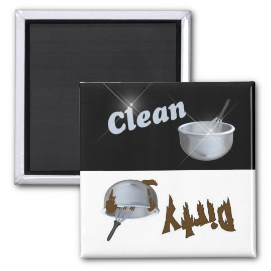 Clean and Dirty Kitchen Bowl Dishwasher Magnet
