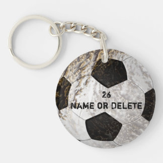 Clean and Dirty Soccer Keychains PERSONALIZED