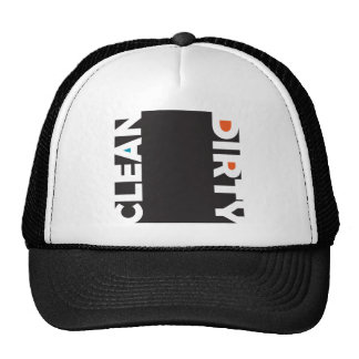 clean and dirty trucker hat