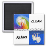 Clean and Dirty Unicorn Dishwasher Magnet