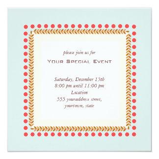 """Clean and Elegant Invitation 5.25"""" Square Invitation Card"""