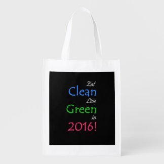 Clean and Green Tote Bag Reusable Grocery Bag