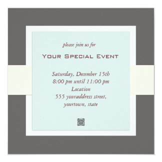 "Clean and Simple Business Event Invitation 5.25"" Square Invitation Card"