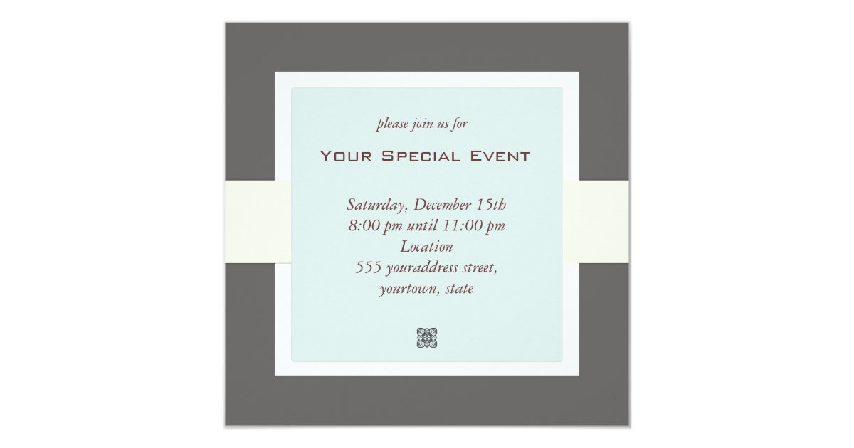 Clean and Simple Business Event Invitation – Business Event Invitation