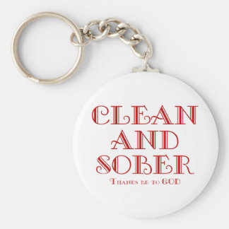 CLEAN AND SOBER KEYCHAIN