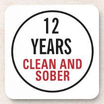 Clean and Sober Milestone Beverage Coaster
