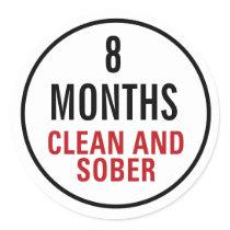 Clean and Sober Milestone Classic Round Sticker