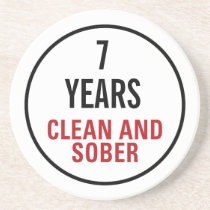Clean and Sober Milestone Drink Coaster