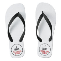 Clean and Sober Milestone Flip Flops
