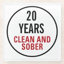 Clean and Sober Milestone Glass Coaster