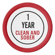 Clean and Sober Milestone Poker Chip Set