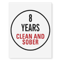 Clean and Sober Milestone Temporary Tattoos