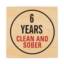 Clean and Sober Milestone Wood Coaster